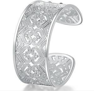 Luckyshine 6pcs Full White Cubic Zirconia Gems 925 Sterling Silver Bangles Aperto Bangles Russia Australia Stati Uniti Braccialetti Braccialetti Braccialetti