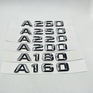 Para A160 A180 A200 A220 A250 A260 Trunk letras traseras insignia del emblema del logotipo de las etiquetas Mercedes Benz W176 Clase A