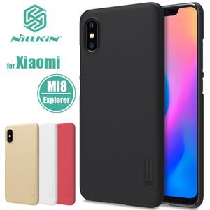 venta al por mayor Mi 8 Explorer Funda Nillkin Super Frosted Shield Xiaomi8 PC Hard Case cubierta trasera Nilkin para Xiaomi Mi8 SE Caja del teléfono liso
