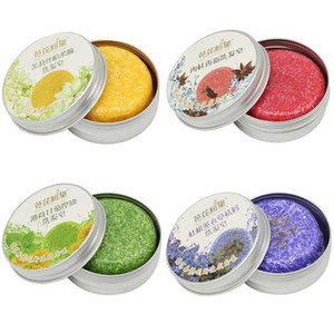 Sabonete artesanal com sabão de sabão wash shampoo magic sabão 6 cores anti-dandruf mulheres meninas homens cabeleireiros 6 pcs navio livre 55g