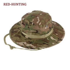 New Boonie Hats Tactical Sniper Camouflage Tree Secchio Hat Accessori Army American Men Cap