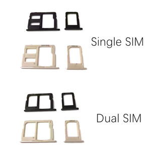 100% New Double Single Sim Micro SD Memory Card Tray Holder Slot For Samsung Galaxy J5 prime J7 prime VS On5 On7 10PCS