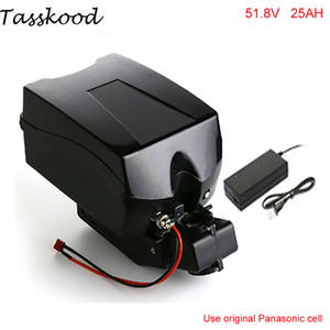 1000w 52V 25Ah elektrische Fahrrad Lithiumionenbatterie 51.8v 25Ah Frog Fall EBike Batterie mit BMS und Ladegerät für Panasonic Zelle