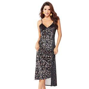Estampas de outono e inverno, suspensórios, saias, vestidos, flanela, costura, roupas femininas, sling fundo sensual A34120
