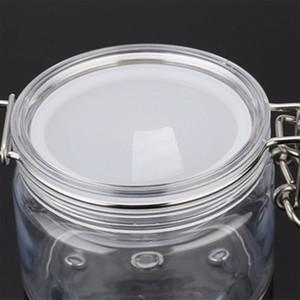 Portátil Branco Translúcido Mini Plástico Cosméticos Vazio Pote Pote Sombra de Maquiagem Caso Creme Para o Rosto Lip Balm Container jc-208