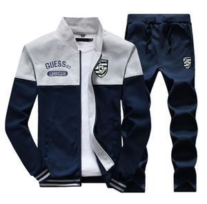 Abbigliamento da uomo Abiti sportivi da autunno Fashion Designer ricamo Tute Pantaloni lunghi Giacche 2 pezzi