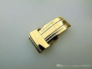 Broche de despliegue de hebilla de banda de reloj de oro pulido color acero inoxidable de 20 mm para correas de reloj Breitling