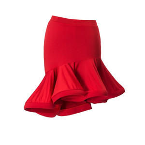 Moda Ruffle Irregular sexy Dança Latina Saia curta para a Mulher / fêmea, desgaste do traje traje de salão Prática dress 2055