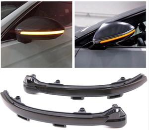LED가 흐르고있는 후면보기 VW 골프를위한 동적 순차적 인 거울의 물 회전 신호등 7 MK7 VII