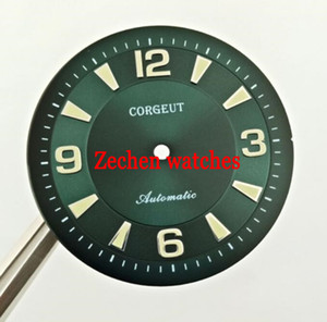 33.5mm Corgeut Green Watch Dial Fit ETA 2836, ETA2836, Movimento Miyota 82 Series