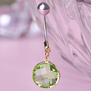 Yaz Stili Göbek Düğme Halkalar Topu Piercing Navel Aşk Yüksek Kaliteli Kadınlar Paslanmaz Çelik ile 5 Renk Kristal Marka Bijoux