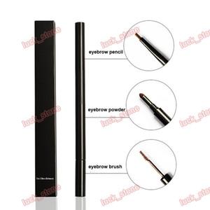 Kein Logo Großhandel angepasst Top Beauty Make-up Augenbrauenstift OEM Make-up 3D Augenbraue 3 in 1 Augenbrauenstift + Air Cushion Powder + Brow Brush
