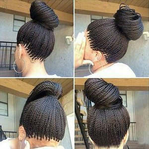 Micro Braided Lace Front Wigs Synthetic Lace Front Wig Hot Sale Wig Black Women African American Braided Havana Twist Lace Wig Free Shipping