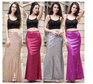 Sequins Sexy Half fishtail long Dress women High waist tie Floral dress skirt Casual Sexy Maxi Dress 2018 new women