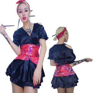 Nouveau Sexy Chanteuse Costume Rouge Shiny Jazz Dance Wear Dj Discothèque Robe Costume Femmes Stage Costumes Pour Chanteurs Danse