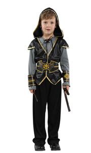 Shanghai Story Halloween Costumes de spectacle pour enfants Costume de garçon croisade Hunter Prince indien