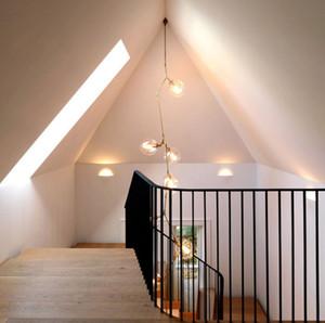 Regron Nordic Chandelier Lights Led Glass Chandeliers Leuchter Modern Minimalismo natural Lámpara de suspensión Luminarias Uso de escaleras