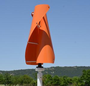 400W 12V / 24V 수직 축 나선 풍차 발전기 VAWT 발전기 낮은 RPM 발전기 가정용 풍력 발전기 LLFA