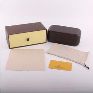 Caixa da marca caixa para óculos de sol óculos óculos de proteção acessórios óculos de sol caixa de embalagem caixa de óculos de sol clássico marrom