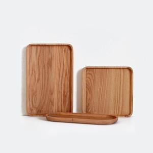 Japón Estilo Bandejas de madera Platos para pastel Creativo Retro Sushi Bandejas para servir de horno Rejilla de madera / Cuadrado / Oval ZA6144