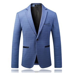 2018 Frühling und Sommer neue stripeTemperament Herren Business Casual Gentleman Handsome Wild Druck Anzug Trend britischen Stil