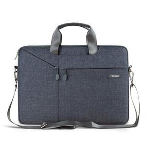 """WIWU 13.3 인치 노트북 가방 15.4 """"노트북 슬리브 케이스 컴퓨터 방수 어깨 가방 Gent 브리프 케이스 Macbook Pro / Air 12"""""""