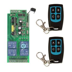 Ac 220 فولت 110 فولت 230 فولت 85 فولت -265 فولت 10a التتابع 4ch اللاسلكي rf التحكم عن التبديل تحكم الارسال + استقبال