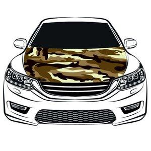 Bandera de la cubierta de la capilla del coche del camuflaje, 100% spandex, tela de proyectil lateral de cuatro, bandera del capo del coche envío gratis, bandera del motor,