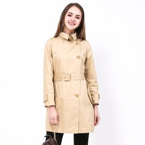 BIBOYAMALL 2018 Весенняя мода повседневная длинные пальто для женщин однобортный тонкий ветровка Женская верхняя одежда пальто
