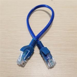 RJ-45 RJ45 Erkek Erkek Cat5 Ethernet Kablo Ağı Kısa Kablo Mavi 25 cm