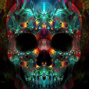Crânio colorido Broca Cheia DIY Mosaico Needlework Pintura Diamante Bordado Ponto Cruz Artesanato Kit de Parede Em Casa Pendurado Decoração