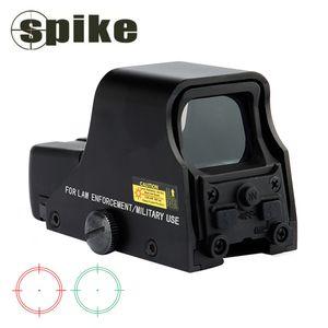 Spike Tactical 1X22mm Holographic Reflex Red grüner Punkt-Anblick Außen Jagd-Anblick-Bereich Helligkeit einstellbar 551 552 553 Schwarz.