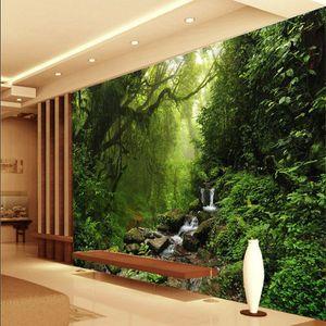 foto 3D wallpaper Personalizzato naturale luce del sole verde occhio foresta paesaggio wallpaper per parete 3D camera da letto per soggiorno sfondo