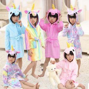 Халат девушки пижамы детские халат с капюшоном с капюшоном халаты дети пижамы дети мультфильм животных халаты детская одежда BY0266