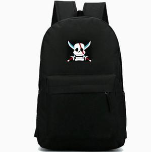Pirate backpack Sea rover daypack Skull schoolbag Good badge rucksack Sport school bag Outdoor day pack