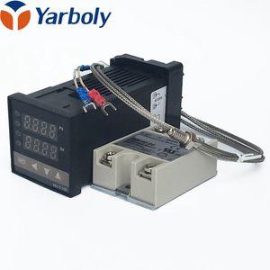 Termostato Do Controlador De Temperatura Digital REX-C100 + Max 40A Relé SSR + K Sonda Termopar