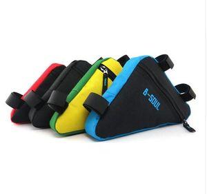 4 색 방수 삼각형 자전거 자전거 가방 전면 튜브 프레임 가방 산악 자전거 삼각형 파우치 프레임 홀더 안장 가방