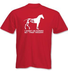 Ich war nicht COMO Hambrienta als erste PENSAMIENTO - Hombres Camiseta Divertida Horse
