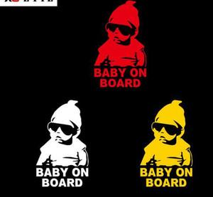 Gemide bebek Arabada bebek Yansıtıcı araba styling decal sticker su geçirmez uyarı çıkartması sticker Aksesuarları