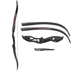 직업적인 56 인치 30-50lbs 석궁 화살 세트 양궁 사냥 던지기 금속 Recurve 활 오른손 표적
