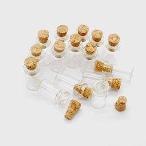 10X18X5MM 0.5ML Vials Klarglasflaschen Mini Tiny Gläser Flaschen mit Korken Miniatur-Glasflasche mit Kork leeren Probengläser Kleine
