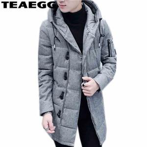 TEAEGG Coton À Capuchon Rembourré Hommes Veste D'hiver 2017 Chaud Hommes D'hiver Vestes Manteau Outwear Parka Homme Plus La Taille 3XL VêtementsAL257