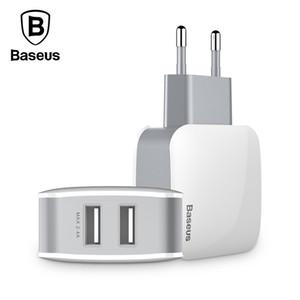 Baseus 2 usb carregador da ue plug para samsung huawei xiaomi dupla porta usb carregador de parede de viagem do telefone móvel usb adaptador de carregador 5v2.4a