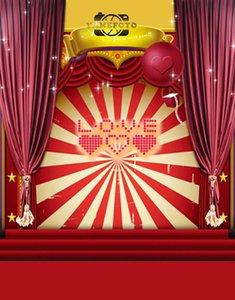 5x7ft Vinil Kırmızı Kalpler Aşk Mektupları Çizgili Dekorasyon Sahne Sevgililer Backdrop Fotoğraf Stüdyosu Arka Plan