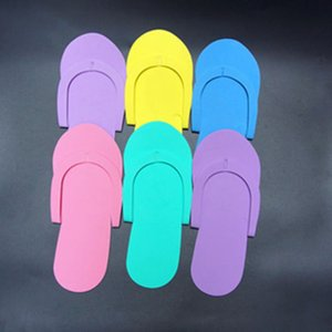 Mais barato!!! Espuma descartável Pedicure Chinelos de praia da cor do doce Flip Flop Salon Pedicure Pé Spas Separadores Nails Art Beauty Slipper