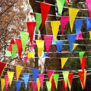 150 flag Düğün Festivali Flama Dize Banner Buntings Renkli 80 m Üçgen Bayrak 20 * 30 cm Festivali Parti Tatil Dekorasyon Noel Kayış