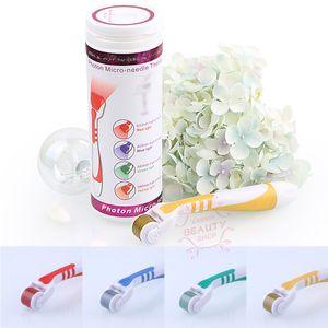 540 Nadeln Photon Mikronadelrolle LED Photon Derma Roller Therapie 4 Farbe für Wählen Sie Anti-Falten-Ausrüstung