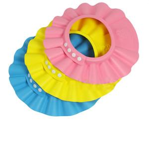 Nueva 3Pc / lot Niños gorro de ducha proteger champú para la salud del bebé de baño ajustable impermeable sombrero Kid Wash pelo escudo sombrero GI870060