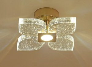 Alta calidad Three Color Variable Light European Petal Bubble Crystal Wall Lamp Aisle Corridor Iluminación Llfa