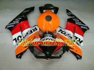Honda CBR1000RR 04 için motosiklet Kaporta kiti 04 05 CBR 1000RR 2004 2005 CBR1000 ABS Kırmızı turuncu siyah Fairings seti + Hediyeler HM16